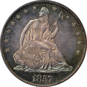 Click now to see the BUY IT NOW Price! 1857 50C LIBERTY SEATED HALF DOLLAR PCGS PR65 CAC