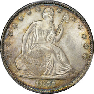 Click now to see the BUY IT NOW Price! 1877 CC 50C LIBERTY SEATED HALF DOLLAR PCGS MS65   CAC