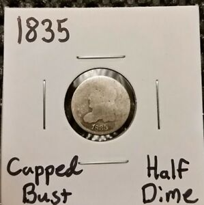 1835 CAPPED BUST HALF DIME  89  SILVER