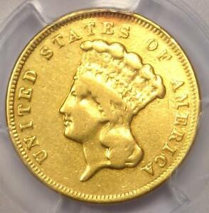 1857 S THREE DOLLAR INDIAN GOLD COIN $3   CERTIFIED PCGS VF DETAILS    DATE