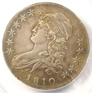 1810 CAPPED BUST HALF DOLLAR 50C   CERTIFIED ANACS AU50 DETAILS    COIN