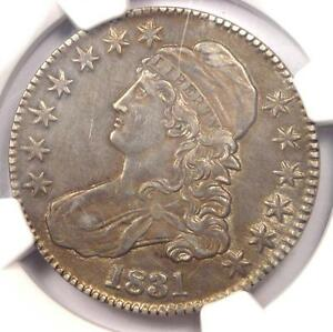 1831 CAPPED BUST HALF DOLLAR 50C O 104   NGC AU DETAILS    CERTIFIED COIN