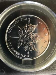 Click now to see the BUY IT NOW Price!  1OZ PLATINUM MAPLE LEAF PCGS UNCIRCULATED 911 WTC GROUND ZERO RECOVERY COIN