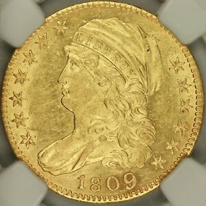 1809/8 CAPPED BUST LEFT $5 EAGLE NGC MS62