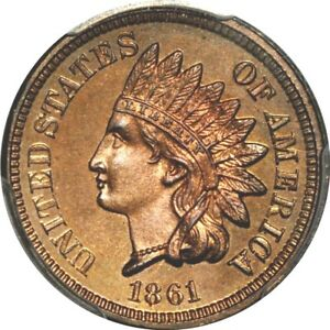 Click now to see the BUY IT NOW Price! 1861 1C INDIAN CENT PCGS PR65   PHOTO SEAL