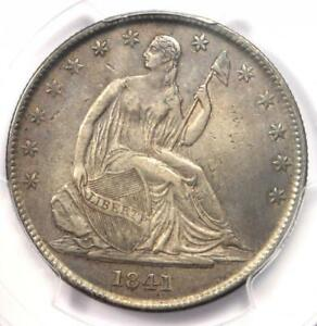 1841 O SEATED LIBERTY HALF DOLLAR 50C   CERTIFIED PCGS XF DETAILS    DATE
