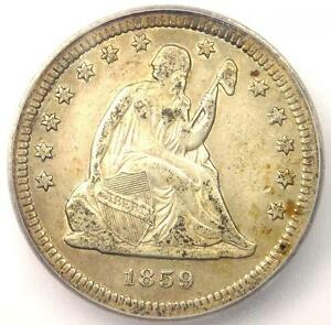 1859 S SEATED LIBERTY QUARTER 25C   CERTIFIED ICG XF40  EF40    $4 940 VALUE