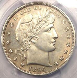 1894 BARBER HALF DOLLAR 50C   PCGS UNCIRCULATED DETAILS  MS UNC    NICE LUSTER