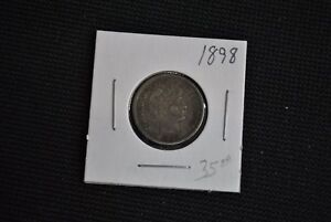 UNITED STATES 1898 BARBER DIME   10 CENT