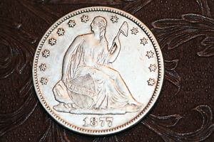 1877 SEATED LIBERTY HALF DOLLAR BETTER SILVER HALF   FREE US SHIPPING