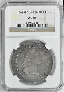 Click now to see the BUY IT NOW Price! 1795 FLOWING HAIR $1 NGC AU 53