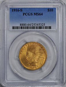 Click now to see the BUY IT NOW Price! 1916 S INDIAN $10 PCGS MS 64