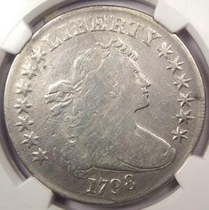 1798 DRAPED BUST SILVER DOLLAR $1 B 29 BB 119   NGC FINE DETAILS    COIN