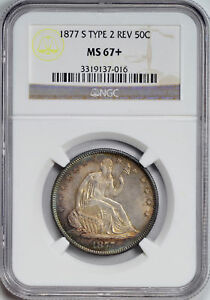 Click now to see the BUY IT NOW Price! 1877 S LIBERTY SEATED 50C NGC MS 67