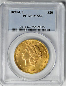 Click now to see the BUY IT NOW Price! 1890 CC LIBERTY $20 PCGS MS 62