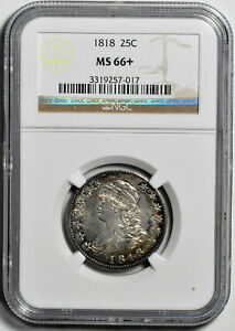 Click now to see the BUY IT NOW Price! 1818 CAPPED BUST 25C NGC MS 66