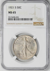 Click now to see the BUY IT NOW Price! 1921 S WALKING LIBERTY 50C NGC MS 65