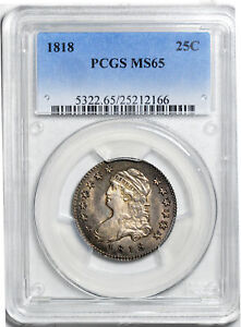Click now to see the BUY IT NOW Price! 1818 CAPPED BUST 25C PCGS MS 65