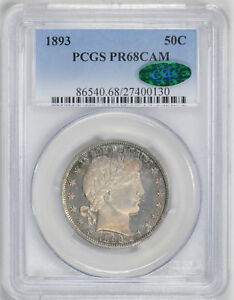 Click now to see the BUY IT NOW Price! 1893 BARBER 50C PCGS PR 68 CAM