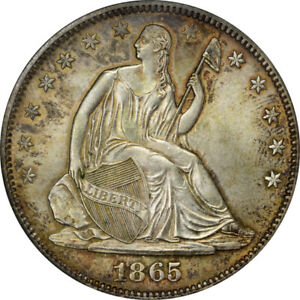 Click now to see the BUY IT NOW Price! 1865 S 50C LIBERTY SEATED HALF DOLLAR PCGS MS65 CAC