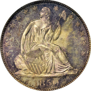Click now to see the BUY IT NOW Price! 1850 O 50C LIBERTY SEATED HALF DOLLAR PCGS MS65 CAC