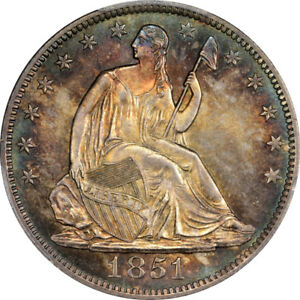 Click now to see the BUY IT NOW Price! 1851 O 50C LIBERTY SEATED HALF DOLLAR PCGS MS65