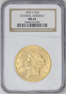 Click now to see the BUY IT NOW Price! 1855 S LIBERTY HEAD $20 NGC MS 63