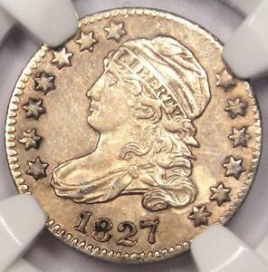 1827 CAPPED BUST DIME 10C   NGC AU DETAILS    EARLY DATE CERTIFIED COIN