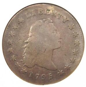 1795 FLOWING HAIR SILVER DOLLAR  $1 COIN    CERTIFIED ANACS VG DETAILS
