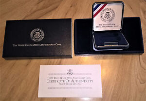 Click now to see the BUY IT NOW Price! 1992 WHITE HOUSE COMMEMORATIVE PROOF SILVER DOLLAR OGP BOX AND COA  NO COIN