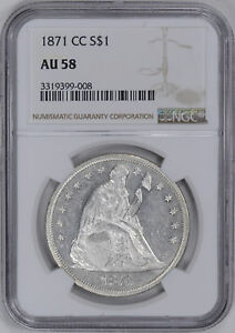 Click now to see the BUY IT NOW Price! 1871 CC LIBERTY SEATED S$1 NGC AU 58