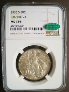 Click now to see the BUY IT NOW Price! 1935 S SAN DIEGO COMMEMORATIVE HALF DOLLAR NGC MS67  CAC CERTIFIED