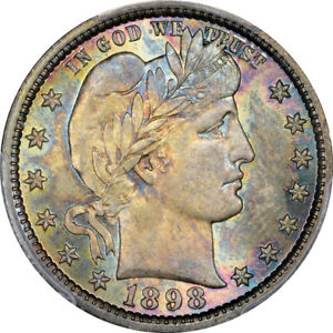 Click now to see the BUY IT NOW Price! 1898 25C BARBER QUARTER PCGS MS67  CAC