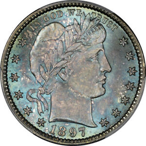 Click now to see the BUY IT NOW Price! 1897 25C BARBER QUARTER PCGS MS67  CAC