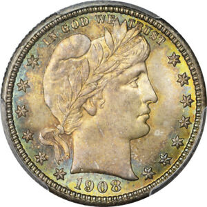 Click now to see the BUY IT NOW Price! 1908 D 25C BARBER QUARTER PCGS MS67 CAC ELIASBERG