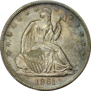 Click now to see the BUY IT NOW Price! 1861 O 50C LIBERTY SEATED HALF DOLLAR PCGS MS66 CAC