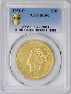 Click now to see the BUY IT NOW Price! 1851 O LIBERTY HEAD $20 PCGS MS 61