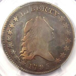 1795 FLOWING HAIR BUST HALF DOLLAR 50C  2 LEAVES    PCGS FINE DETAIL    COIN