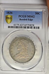 Click now to see the BUY IT NOW Price! 1836 50C REEDED EDGE PCGS MS62