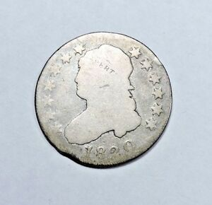 1820 CAPPED BUST QUARTER GOOD CONDITION 25C SILVER LARGE