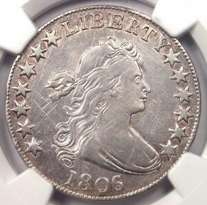 1806 DRAPED BUST HALF DOLLAR 50C   NGC VF DETAIL    CERTIFIED COIN   NEAR XF