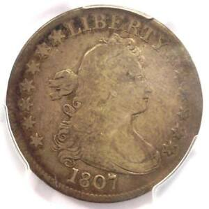 1807 DRAPED BUST QUARTER 25C COIN   CERTIFIED PCGS FINE DETAILS    COIN