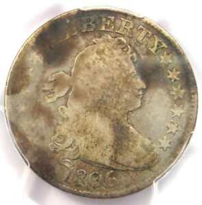 1806/5 DRAPED BUST QUARTER 25C COIN   CERTIFIED PCGS VG DETAILS    COIN