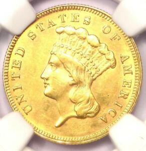 1889 THREE DOLLAR INDIAN GOLD COIN $3   NGC UNCIRCULATED DETAIL  UNC BU