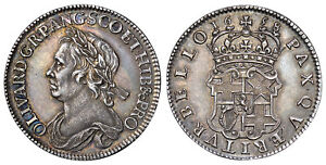 Click now to see the BUY IT NOW Price! GT BRIT.  1658 AR HALFCROWN. NGC AU58. OLIVER CROMWELL SCBC 3227A NORTH 2746