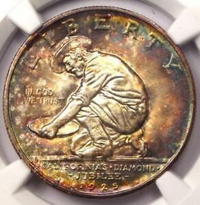 Click now to see the BUY IT NOW Price! 1925 S CALIFORNIA HALF DOLLAR DIAMOND JUBILEE 50C. NGC MS67 RAINBOW. $2700 VALUE