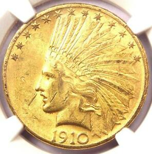 1910 S INDIAN GOLD EAGLE $10   NGC UNCIRCULATED DETAILS  UNC MS    NICE LUSTER