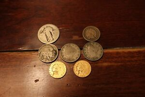 1928 AND 1926$2.50 EAGLE INDIAN HEAD GOLD COIN PLUS TWO LIBERTY NICKLES   MORE