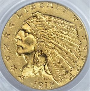 PCGS 1915 $2.50 MS62 LUSTROIS GOLD INDIAN WITH A GOOD LOOK