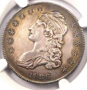 1836 CAPPED BUST HALF DOLLAR 50C O 101A   NGC AU DETAILS    CERTIFIED COIN